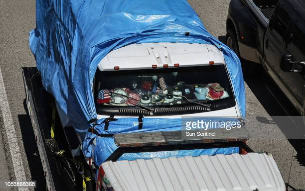 The van believed to be owned by bombing suspect Cesar Sayoc Jr of Aventura is transferred to the FBI Headquarter in Miramar Fla Friday Oct 26 2018...
