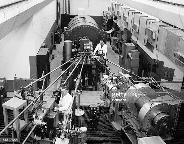 The Van de Graff accelerator It produces beams of protons neutrons or alpha particles at up to 3 billion electron volt energies It is used mainly for...