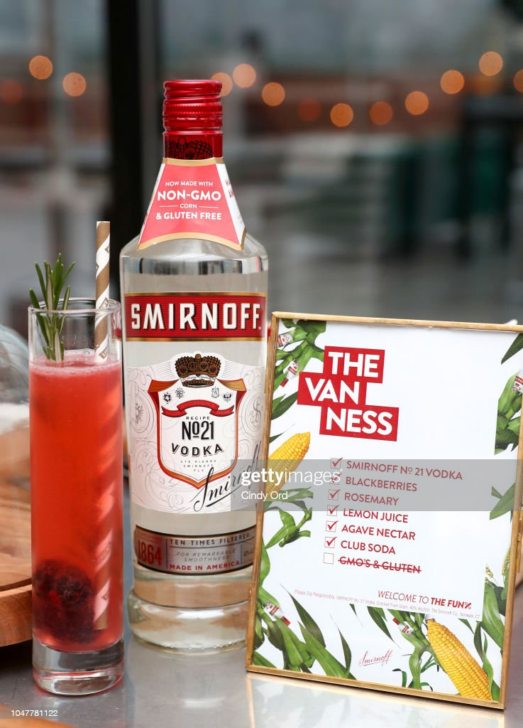 The Van Ness made with Smirnoff No  21 Vodka, now non-GMO on
