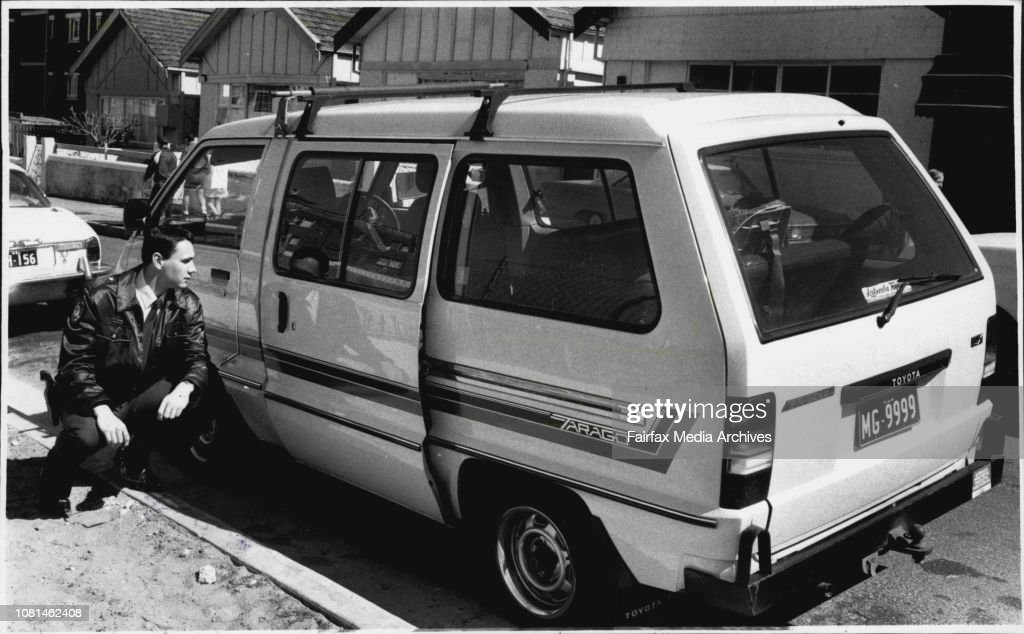 """The van used in the abduction.To Mrs. Donna Bowers, the knifepoint abduction of a four-year-old disabled boy outside her home yesterday by a man wearing a red plastic nose was """"something you'd expect to see on a ridiculous TV program"""".The drama began in S : News Photo"""