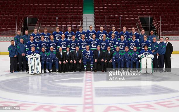 The Vancouver Canucks Front Row Cory Schneider Roland Melanson Goaltending Coach Darryl Williams Assistant Coach Lorne Henning Assistant General...