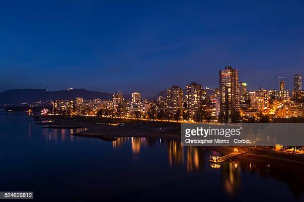 The Vancouver city skyline and English Bay