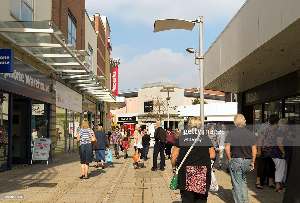 The Vancouver Quarter shopping centre, King's Lynn : Stock Photo