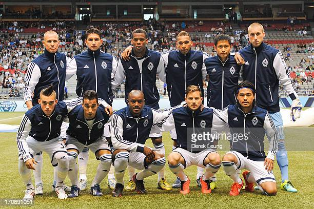 94297fa47 The Vancouver Whitecaps  starting eleven pose for a photo prior to their  match against Chivas