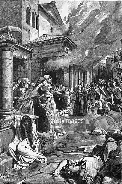 The vandals sacking the city of Rome. 390 BC.