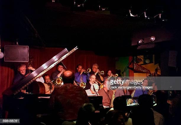 The Vanguard Jazz Orchestra performs at during a regular Monday evening set at the Village Vanguard nightclub New York New York June 24 2002