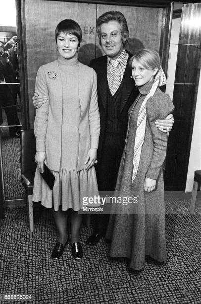 The Variety Club luncheon at the Savoy Pictured left to right Glenda Jackson Danny La Rue and Polly James Glenda Jackson received the 'BBC TV...