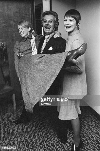 The Variety Club luncheon at the Savoy Pictured left to right Polly James Danny La Rue and Glenda Jackson Polly James received the 'Most Promising...