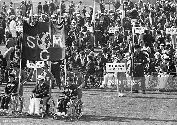 The various international teams during the opening ceremony of the Summer Paralympic Games in Tokyo 3rd November 1964