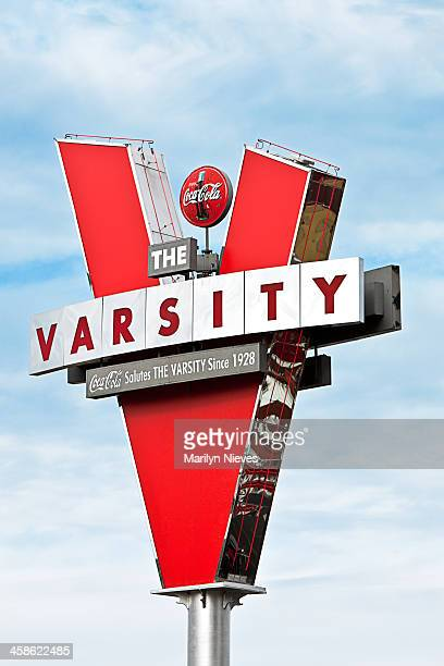 the varsity sign - atlanta georgia stock pictures, royalty-free photos & images