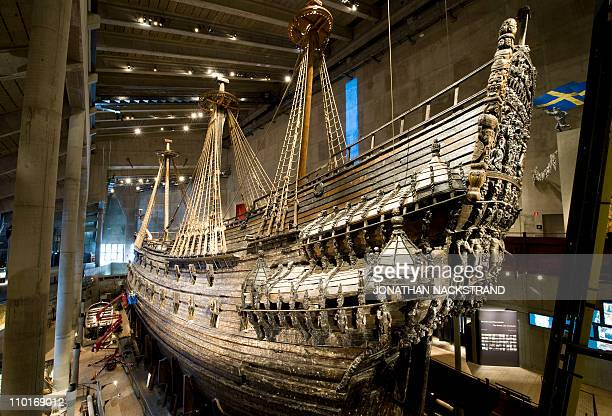 The Vasa is displayed at the Vasa Museum in Stockholm, on March 10, 2011. Sweden's 17th century royal warship Vasa, which sank in 1628 and was...