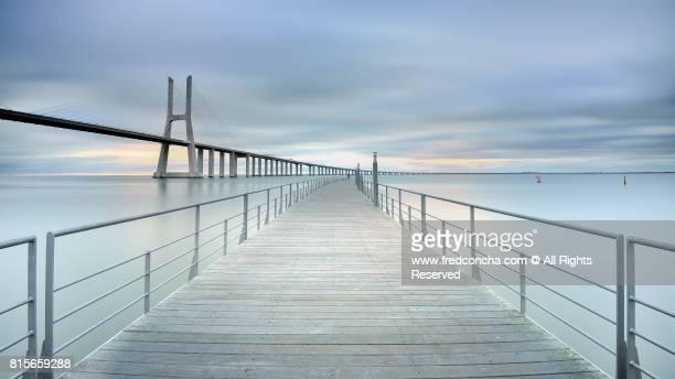 The Vasco da Gama bridge in Lisbon