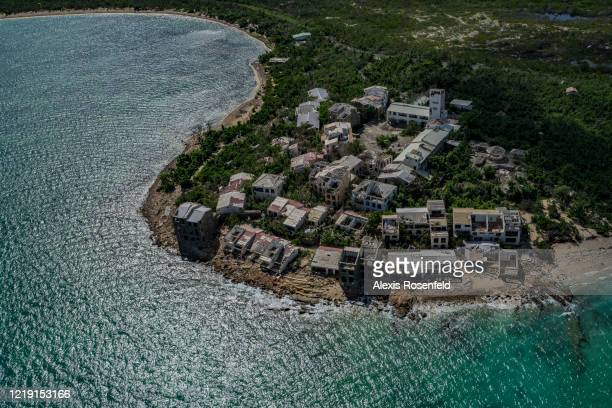 The vast majority of buildings houses and mainly roofs have been affected by the tropical storm on November 13 SaintMartin French West Indies...