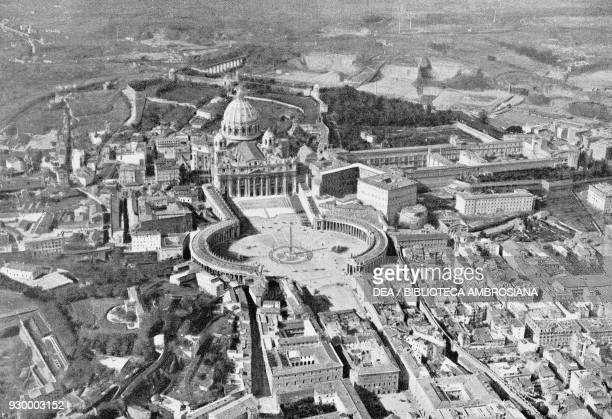 The Vatican photographed from the Italian military airship N 1, Italy, photograph, from L'Illustrazione Italiana, Year XXXV, No 46, November 15, 1908.