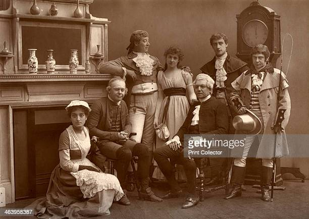 The Vaudeville Company in 'The Road to Ruin', at the Vaudeville Theatre, London, 1886. Back: Charles Warner, Kate Rorke, Fuller Mellish, Fred Thorne....