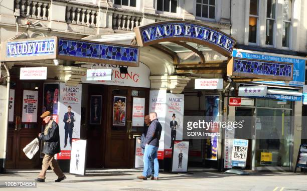 The Vaudeville Theatre in The Strand current home 'Magic Goes Wrong' in London's home of Theatre - The West End. Some of the most famous Productions...