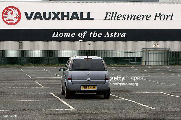 The Vauxhall Astra manufacturing plant on February 18 2009 in Ellesmere Port England Vauxhall's parent company General Motors and Chrysler are are...