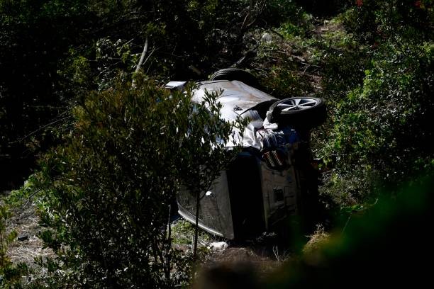 CA: Tiger Woods Injured In Rollover Car Crash