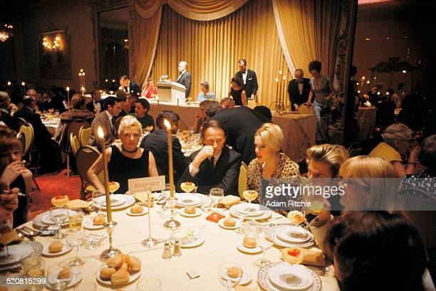 The Velvet Underground's guest table at the New York Society for Clinical Psychiatry annual dinner The Delmonico Hotel New York 13th January 1966 LR...