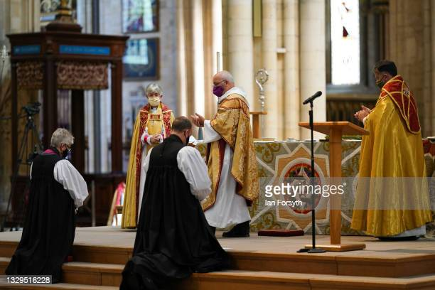 The Venerable Julie Conalty, currently Archdeacon of Tonbridge and the Reverend Canon Sam Corley, currently Rector of Leeds are consecrated as the...