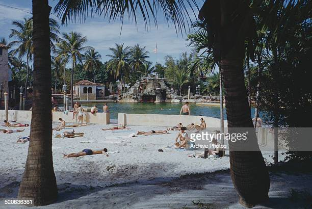 The Venetian Pool, a public swimming pool in Coral Gables, Florida, USA, circa 1960.