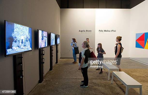 The Venezuela pavillion at the Giardini during the 56 Venice Biennale Art on May 8 2015 in Venice Italy