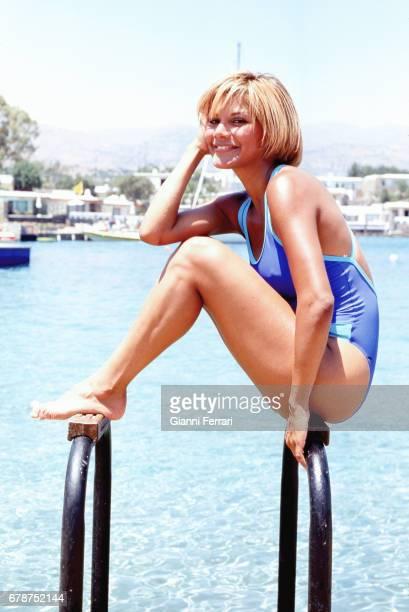 The Venezuelan actress and presenter of Television Ivonne Reyes Crete Island, Greece.