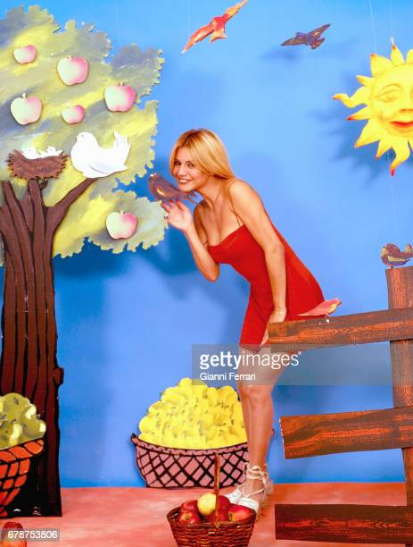 The Venezuelan actress and presenter of TV Ivonne Reyes during a photoshoot Madrid, Spain.