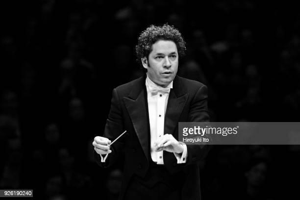 The Venezuelan conductor Gustavo Dudamel leads the Vienna Philharmonic Orchestra in Berlioz's 'Symphonie fantastique' at Carnegie Hall on Saturday...