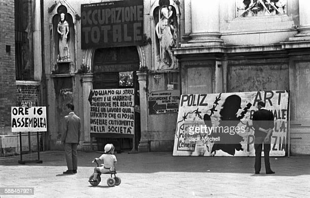 The Venice Biennale in June 1968.