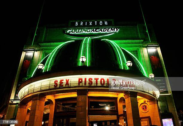 The venue is seen prior to the Sex Pistols' performance at Brixton Carling Academy on November 8, 2007 in London, England.