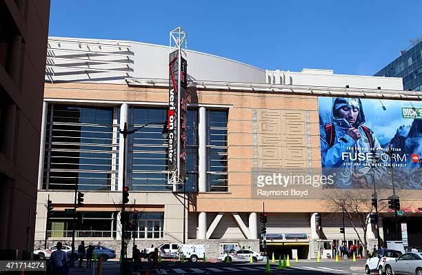 The Verizon Center home of the Washington Wizards basketball team Washington Capitals hockey team and Washington Mystics WNBA basketball team on...