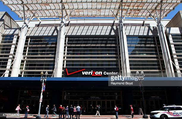 The Verizon Center home of the Washington Wizards basketball team Washington Capitals hockey team and Washington Mystics WNBA basketball team on...