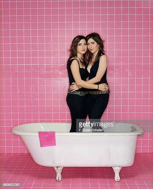 The Veronicas are photographed for Blender Magazine on June 3 2005