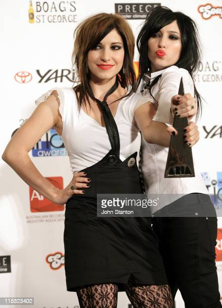 The Veronicas during 2006 ARIA Awards Press Room at Acer ArenaSydney in Sydney NSW Australia