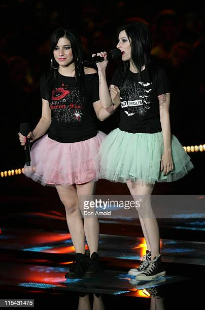 The Veronicas during MTV Australia Video Music Awards 2007 Show at Superdome in Sydney NSW Australia