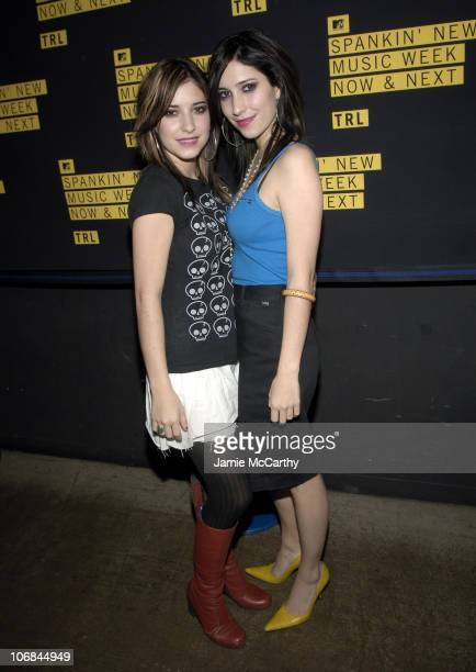 The Veronicas during MTV's TRL Spankin' New Music Week Simple Plan Chris Brown The Veronicas and OAR November 8 2005 at MTV Studios Times Square in...
