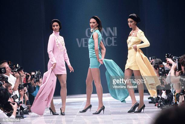 The Versace 1990 AutumnWinter collection is modelled at a show in Milan