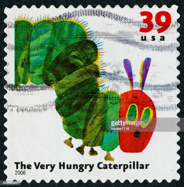 the very hungry caterpillar stamp - hungry stock pictures, royalty-free photos & images