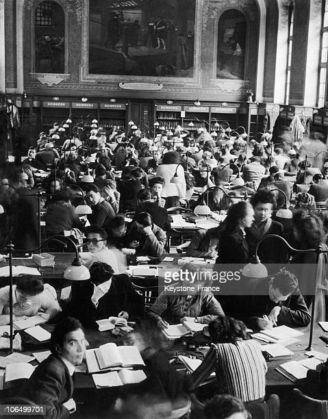 The Very Large And Always Packed Reading Room At The Sorbonne University In Paris Around 1936