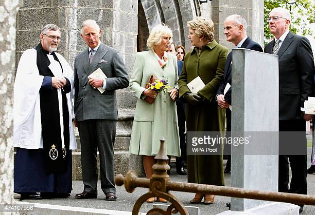 The Very Rev Arfon Williams Prince Charle Prince of Wales Camilla Duchess of Cornwall Former President of Ireland Mary McAleese Martin McAleese and...
