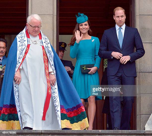 The Very Reverend Dr Trevor James Catherine Duchess of Cambridge and Prince William Duke of Cambridge attend a Palm Sunday service at St Paul's...