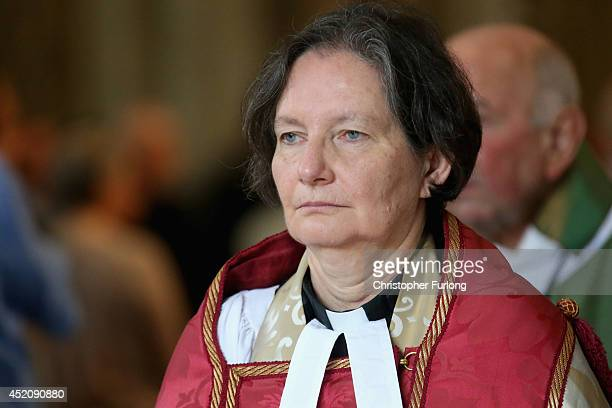The Very Reverend Vivienne Faull Dean of York attends a Eucharist Service at York Minster on July 13 2014 in York England Members and officers of the...