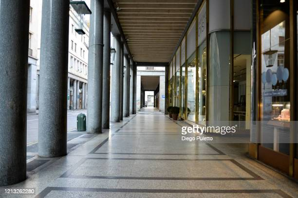 The Via Roma looks deserted during the nationwide lockdown to control COVID19 spread on March 17 2020 in Turin Italy The Italian government continues...