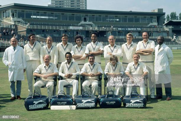 The Vic Lewis Cricket Team during a charity match at Edgbaston Birmingham circa 1980 Vic Lewis a bandleader and showbiz agent formed his cricket club...