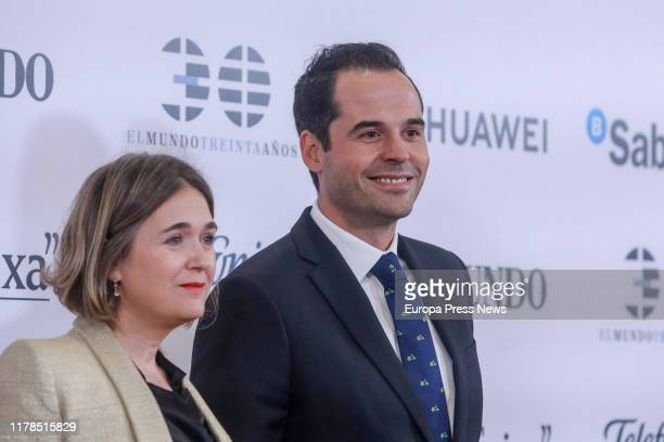 The vice president of the Community of Madrid Ignacio Aguado and the deputy of Ciudadanos at the Madrid Assembly Marta Rivera attend the 30th...