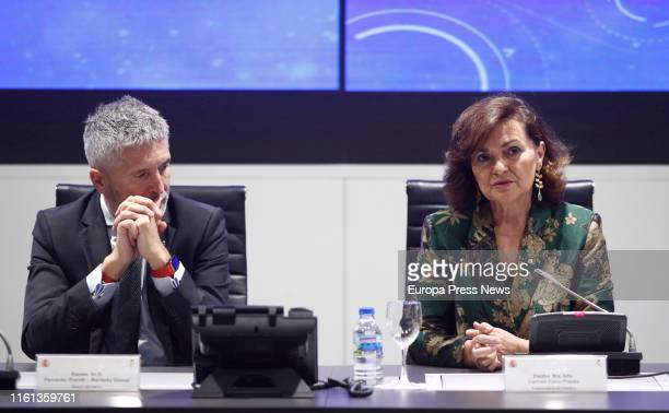 The vice president of the Government Carmen Calvo and the Interior minister Fernando GrandeMarlaska present the Equality Gender Program of the...