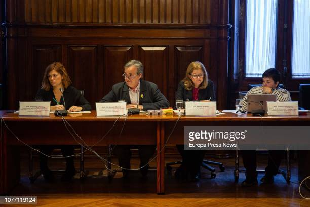 The vice president of the research commission on the application of the article 155 of the Spanish Constitution in Catalonia, Elisenda Alamany; the...