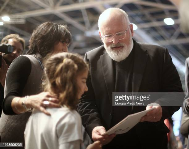 The vicepresident first of the European Union Frans Timmermans at his arrival to the eleventh day of the Climate Summit in Ifema on December 12 2019...