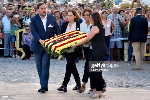 The VicePresident of the Government of Catalonia Oriol Junqueras Minister of health of the Government of Spain Dolors Montserrat the President of the...